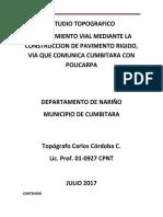 informe topografico Via Cumbitara a Mpio de Policarpa.docx