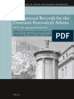 Inscriptional Records for the Dramatic Festivals in Athens IG II2 2318-2325 and Related Texts