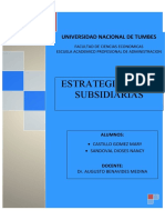 ESTRATEGIAS PARA SUBSIDIARIAS-GESTION-II