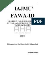 MAJMU' FAWA-ID JILID 1 AHA