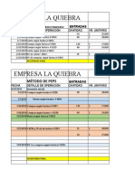 ASIENTOS CONTABLES PROMEDIO PONDERADO 2019  (TRABAJO EN CASA)