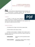 O DIREITO EMPRESARIAL - DIREITO DO CONSUMIDOR E COMERCIAL - NOÇÕES GERAIS