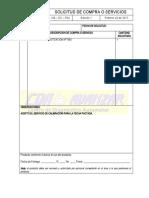 CM – SC – F04 SOLICITUD DE COMPRA Y SERVICIOS