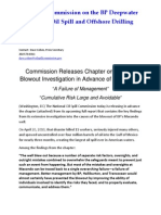 Advance Chapter on BP Well Blowout Investigation Released