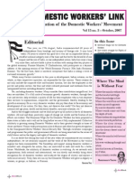 Newsletter - October 2007, NDWM (National Domestic Workers Movement)