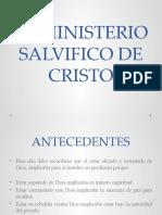 EL MINISTERIO SALVIFICO DE CRISTO