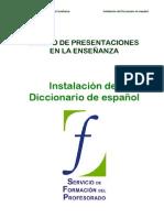 00 Diseño de presentaciones. Instalacion del diccionario de español