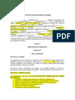 ANONIMA CON GERENTE PPAL Y  JUNTA DIRECTIVA DE 3 PERSONAS