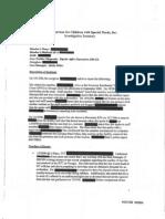 Devereux Investigation Summary 2006