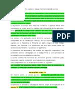 REGULACIÓN JURIDICA DE LA PROTECCIÓN DE DATOS
