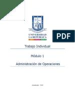 Trabajo Individual Módulo 1 Adm. Operaciones