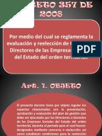 decreto 357 de 2008