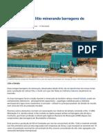 Brasil produzirá lítio minerando barragens de rejeitos