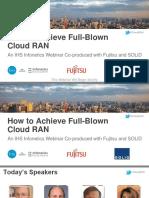 Cloud RAN BENEFITS