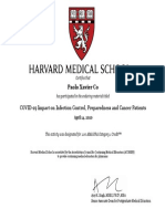 Harvard - COVID-19 Impact on Infection Control, Preparedness and Cancer Patients