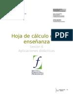 06  Hoja de calculo en la enseñanza. Aplicaciones didacticas