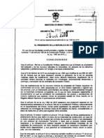 Decreto 2715 de 2010 Reg Lament a Rio Ley 1382 de 2010