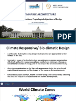 Lecture 17 Climatic Considerations, Physiological Objectives of Design