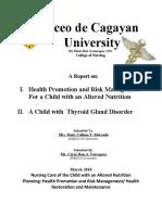 Report- Thyroid Gland Diseases