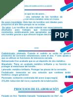 MATERIAL DE FABRICACION Y ACABADO DE TORNILLOS