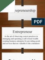 Entrepreneurship and Bussiness Planning 11.23.18