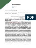 Reporte comisión constitución SENADO proyecto de ley para liberar adultos mayores de la cárcel  (boletín 12345) - 20 de mayo del 2020