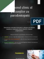 Examenul clinic al pacienților cu parodontopatii
