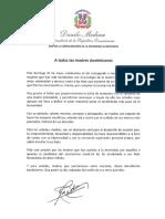 Mensaje del presidente Danilo Medina con motivo del Día de las Madres 2020