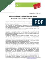 Réaction RR Sortie Du Confinement 28.05.2020