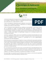 A engenharia e a tecnologia de aplicação - Espanhol