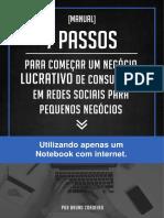 Manual 7 Passos Para Montar Um Negócio Lucrativo de Consultoria Em Redes Sociais