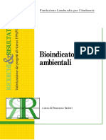 Bioindicatori alimentari  Francesco Sartori