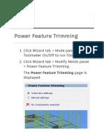 Powershape Power Feature Trimming Concept