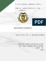 OBJETIVOS DE LA  MACROECONOMÍA.