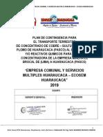 Plan de Contingencia Para Transporte de Residuos Peligros - ECOSEM HCCA.pdf