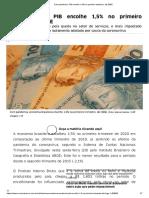 Com pandemia, PIB encolhe 1,5% no primeiro trimestre, diz IBGE