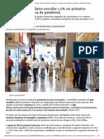 PIB brasileiro encolhe 1,5% no primeiro trimestre, por causa da pandemia - Economia - Estado de Minas