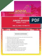 IMOYA 2017 Junior