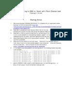 Fibre Channel Boot Notes
