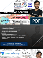 28th May Current Affairs by Kapil Kathpal (English)
