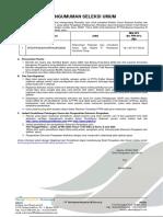 Pengumuman Paket Seleksi Umum Pengadaan Sistem Total Reward