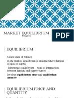 Market Equilibrium - acted