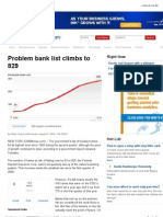 Problem Bank List Climbs to 829 - Aug. 31, 2010