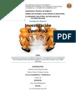 INFORME Investigacion operativa