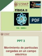 PPT 3 - Mov de partículas cargadas en un campo eléctrico