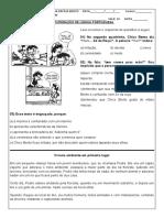 recuperação portugues 8º ano 4º bimetre