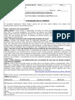 avaliação portugues 8º ano 3º bimetre