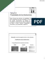 Tema 2.3. PROPIEDADES DE LAS DISOLUCIONES
