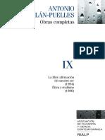 Antonio Millán Puelles. Obras completas (Volumen IX)