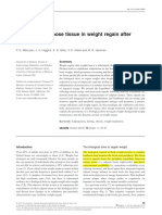 The role for adipose tissue in weight regain afterweight loss